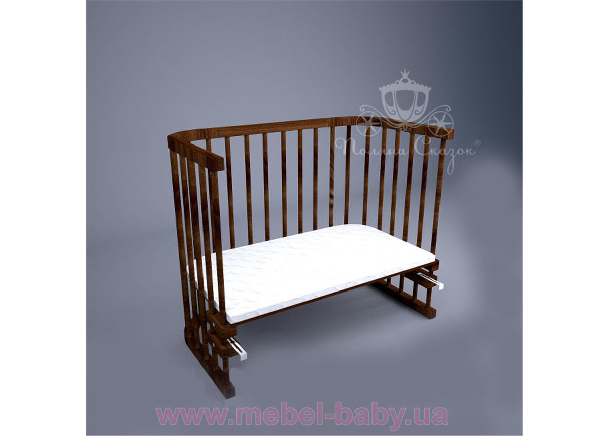 Приставная кроватка для новорожденных Multi-bed Premium макси Поляна сказок Ольха Коричневая 55x100