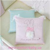 Набор постельного белья Зайчики розовый (7 предметов) Маленькая Соня
