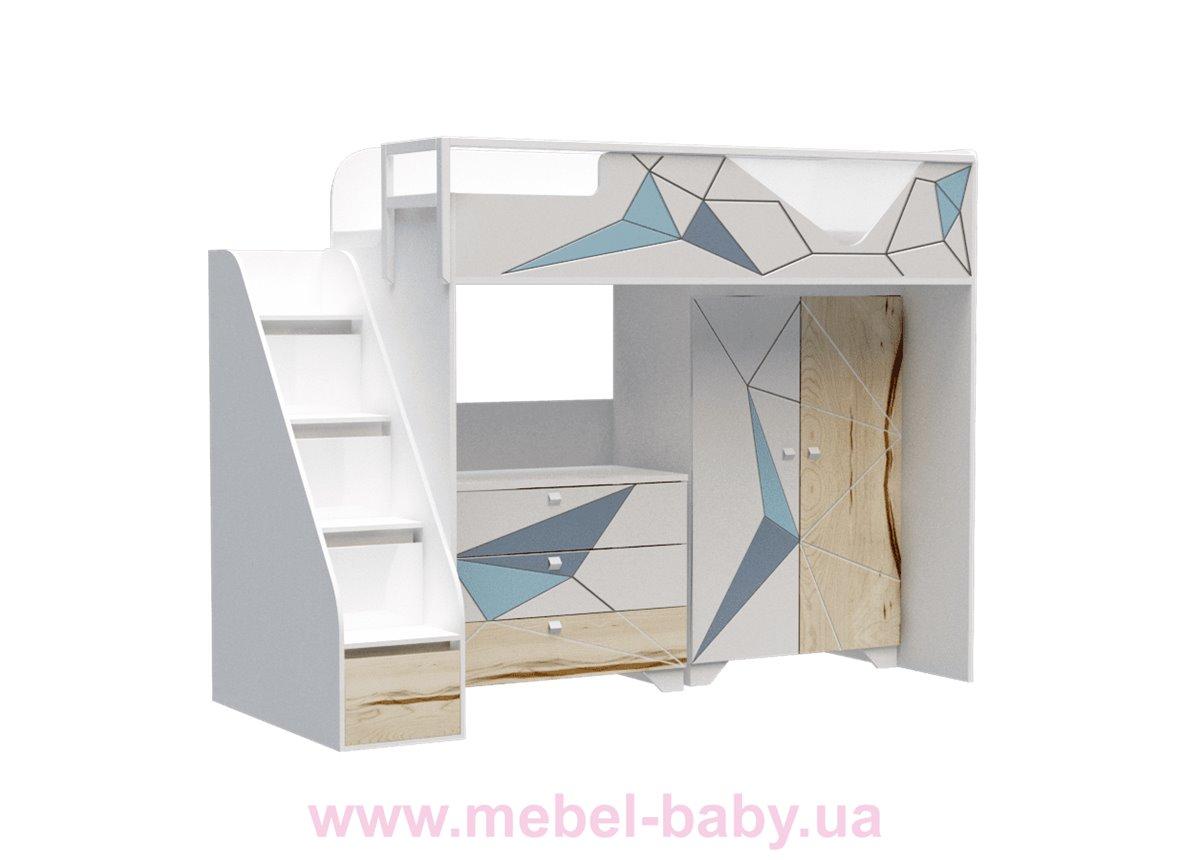 Кровать-чердак O-M-005 Origami Эдисан 90x190 белый