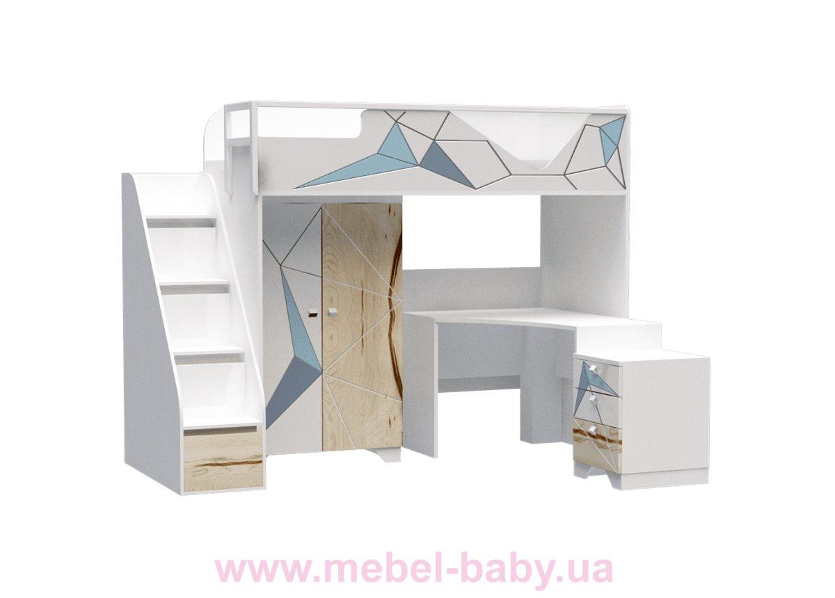Кровать-стол O-M-006 Origami Эдисан 90x190 белый