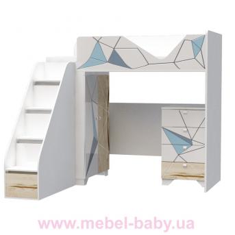 Кровать-чердак O-M-002 Origami Эдисан 90x190 белый