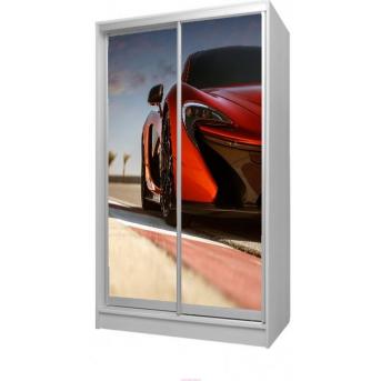 Шкаф-купе 76 Viorina-Deko 1200 серый