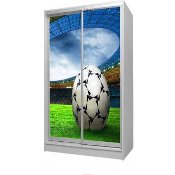 Шкаф-купе Футбол 29 Viorina-Deko 1200 серый