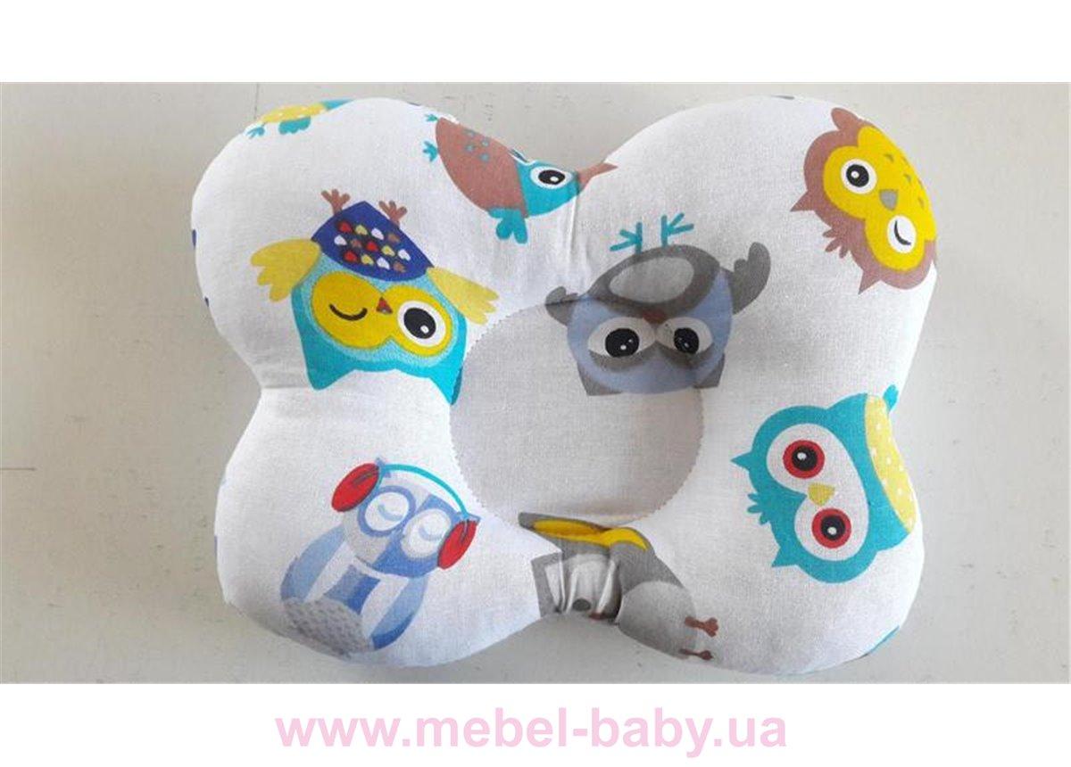 Подушка ортопедическая (для новорожденных) цветные совушки 25x30 VIALL
