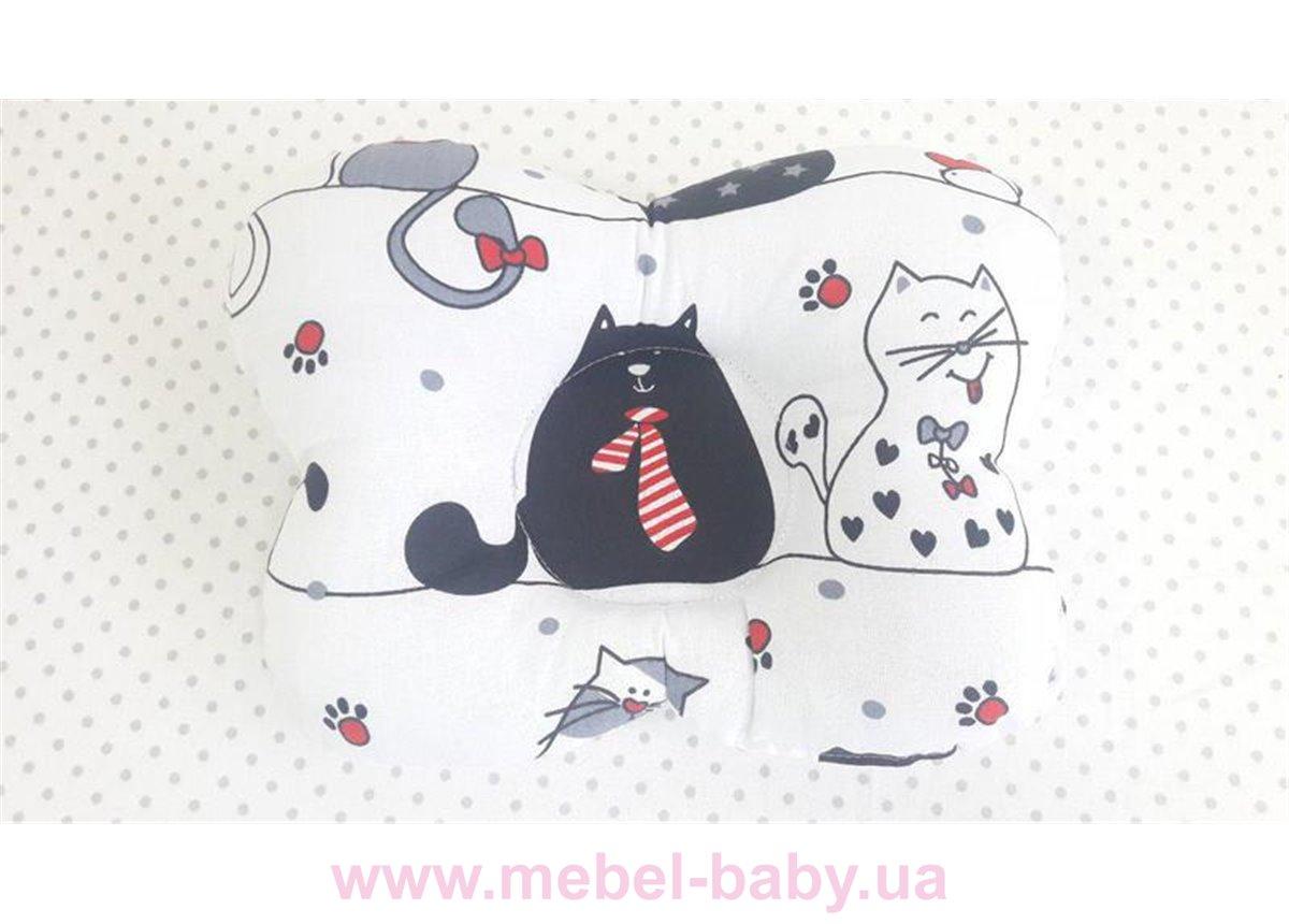 Подушка ортопедическая (для новорожденных) жирные коты 25x30 VIALL