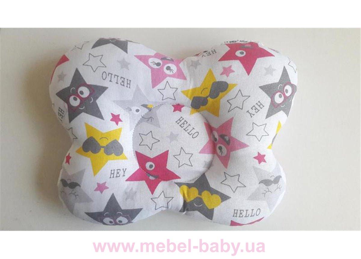Подушка ортопедическая (для новорожденных) звезды 25x30 VIALL