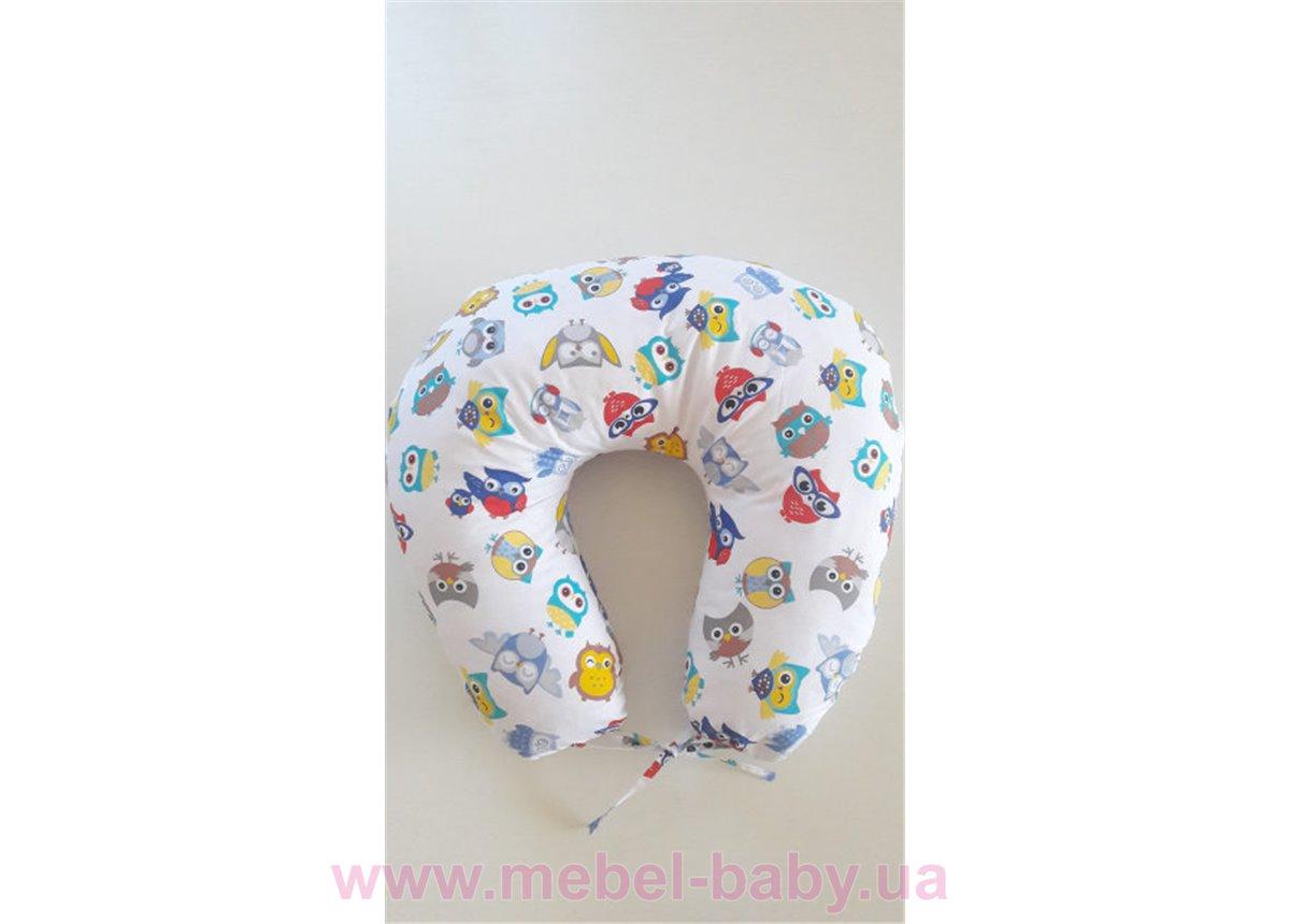 """Подушка для беременных и кормления """"Цветные совушки"""" 90x90 VIALL"""