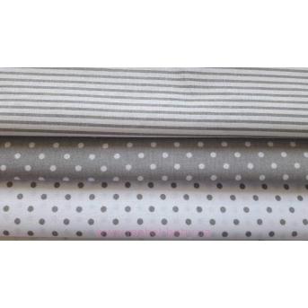 """Сменная постель """"Joy"""" (3 ед) комбинированый серо-белый горох VIALL"""