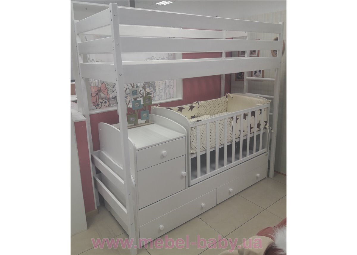 Мега компактный комплекс + стол + тумба + подростковая кровать