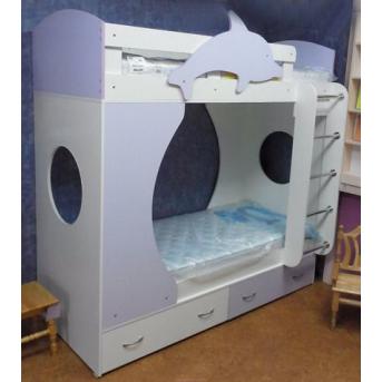 """Кровать детская двухъярусная """"Дельфин"""" (а21-2) Мерабель 80x190"""