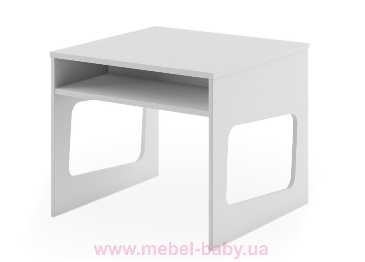 266_Столик BOX Fashion Grey Meblik 638 белый