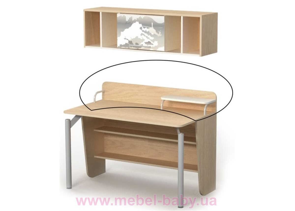 Надстройка на стол M-09-2 Briz 1250 дуб родос
