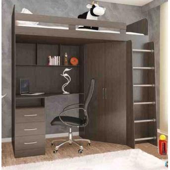 Кровать-чердак со столом 12-3 80x190 (101)