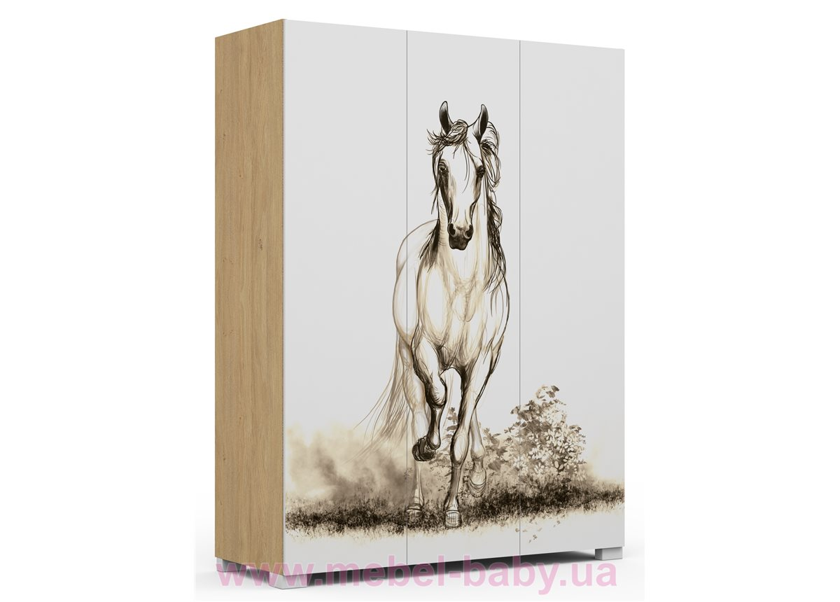 246_Шкаф 150 Oak Horse Meblik
