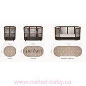 Кроватка SMARTBED OVAL 9-в-1 с сердечками с полозьями для укачивания IngVart белый 60x71
