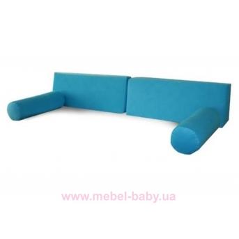 Распродажа_946_Набор подушек и валиков BLUE Meblik