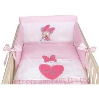 910  Постельный набор кроватки для новорожденного Меблик Minnie mouse