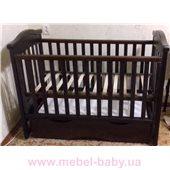 Кроватка детская LUX4 накладка Angelo 1200x600 орех