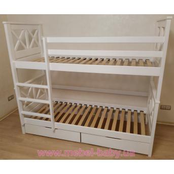 Двухъярусная кровать Калипсо 80х190 белый