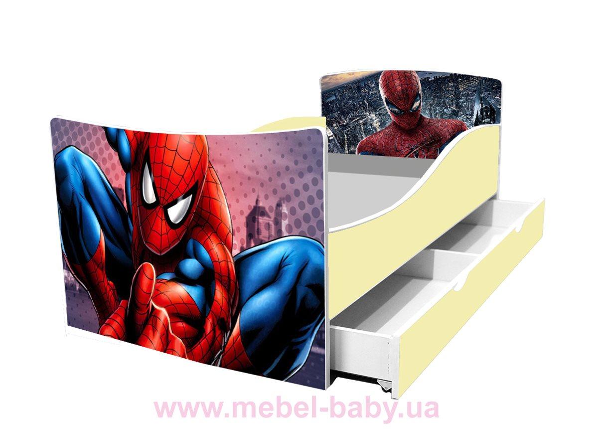 Кроватка детская с ящиком для мальчиков KINDER Viorina-Deko бежевый
