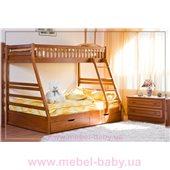 Двухъярусная кровать Юлия (без ящиков) Венгер 90х200