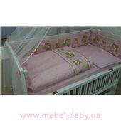 Комплект в детскую: комод пеленальный + кроватка + матрас + набор белья
