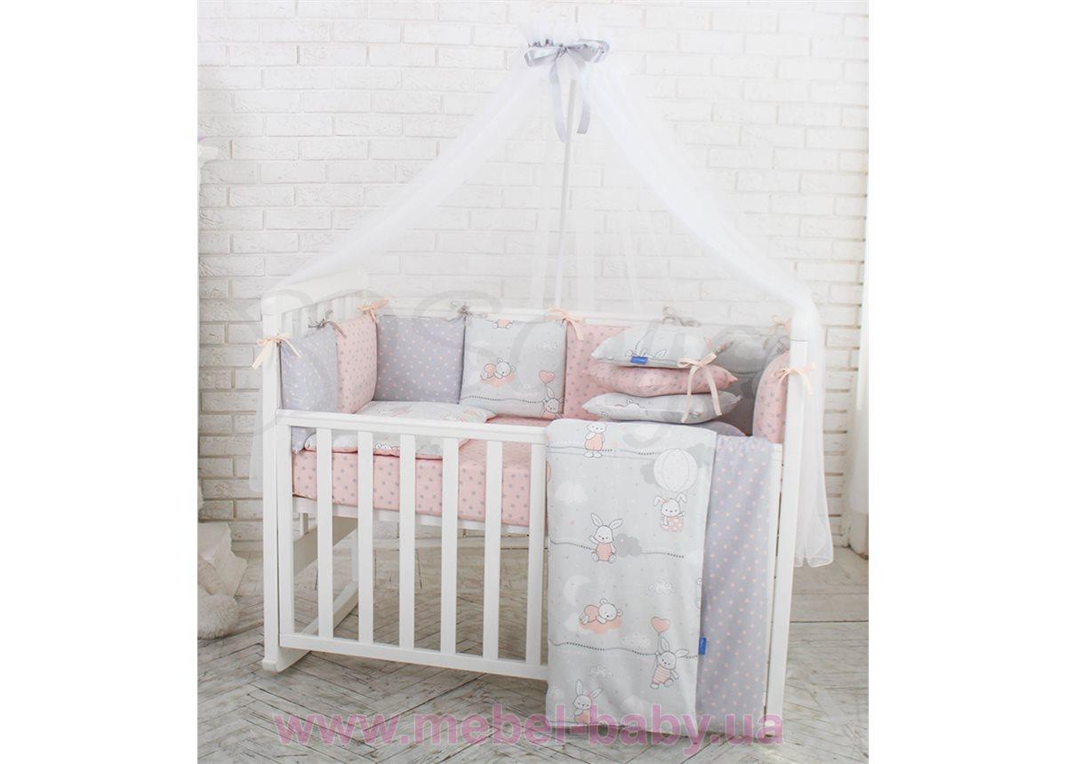 Комплект Baby Design премиум Зайчики (7 предметов) Маленькая Соня пудра