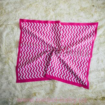 Плед вязанный Зигзаг Маленькая Соня 80х100 розовый
