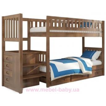 Двухъярусная кровать Владимир (с ящиками) Венгер 90x190