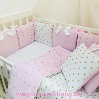 Комплект Shine сердечко (7 предметов) Маленькая Соня розовый