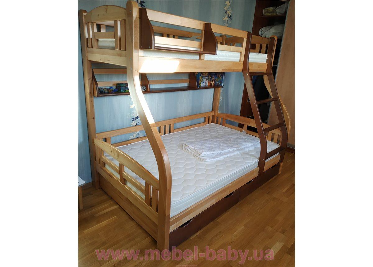 """Кровать двухъярусная """"Светлана"""" (без ящиков) 80/120x200  Венгер"""