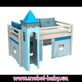 Кровать-чердак GABI WIEZA Bociek Meble 80x180