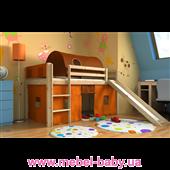 Кровать-чердак с горкой GABI Z IGLO Bociek Meble 80x180