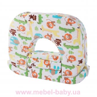 """Ортопедическая подушка для кормления двоих детей одновременно Feeding Pillow TWIN """"Zoo"""""""