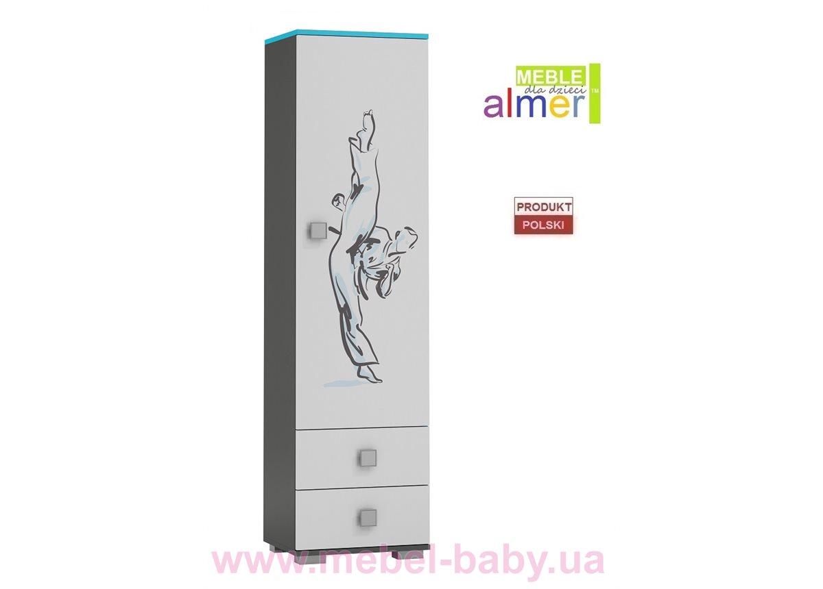 Одинарный шкаф KARATE Y2 500 Almer белый