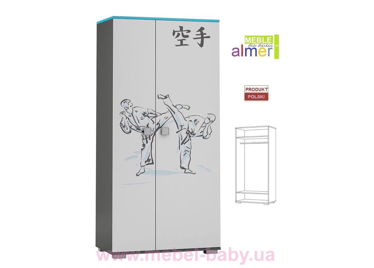 Двухдверный шкаф KARATE Y23 900 Almer белый