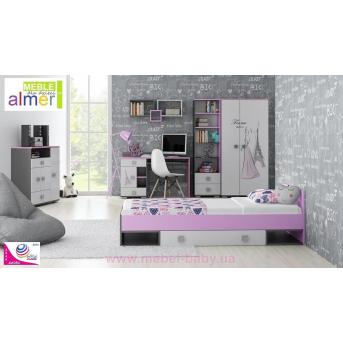 Детская комната Zestaw A PARIS Almer Белая
