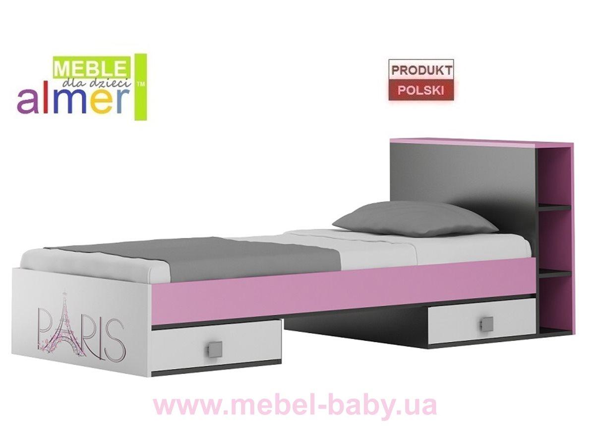 Классическая кровать с ящиком PARIS Y19 90x200 Almer Белая