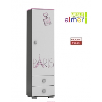 Одинарный шкаф PARIS Y2 500 Almer Белый
