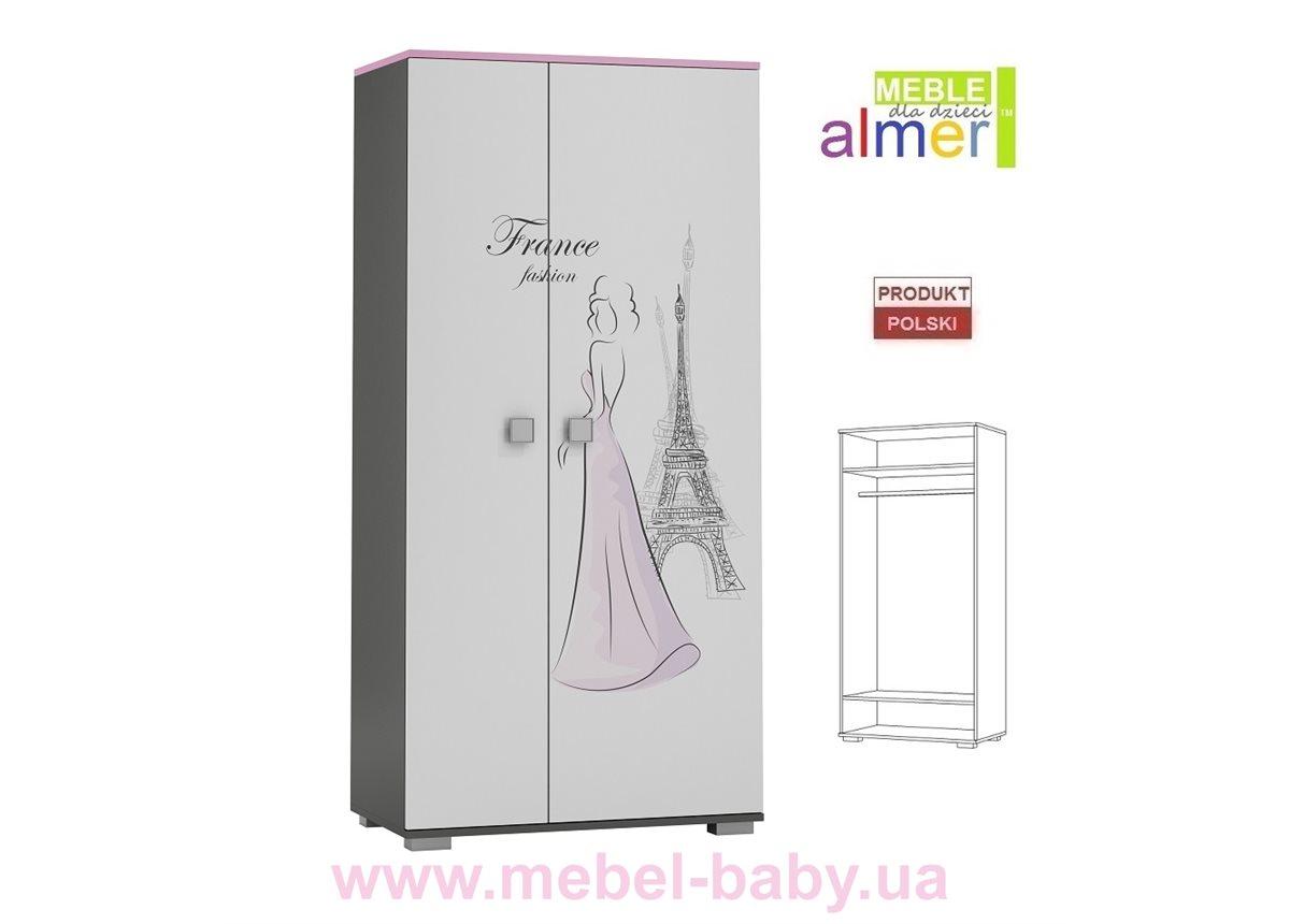 Двухдверный шкаф PARIS Y23 900 Almer Белый