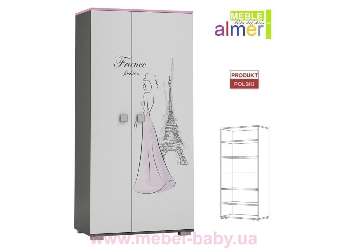 Двухдверный шкаф PARIS Y24 900 Almer Белый