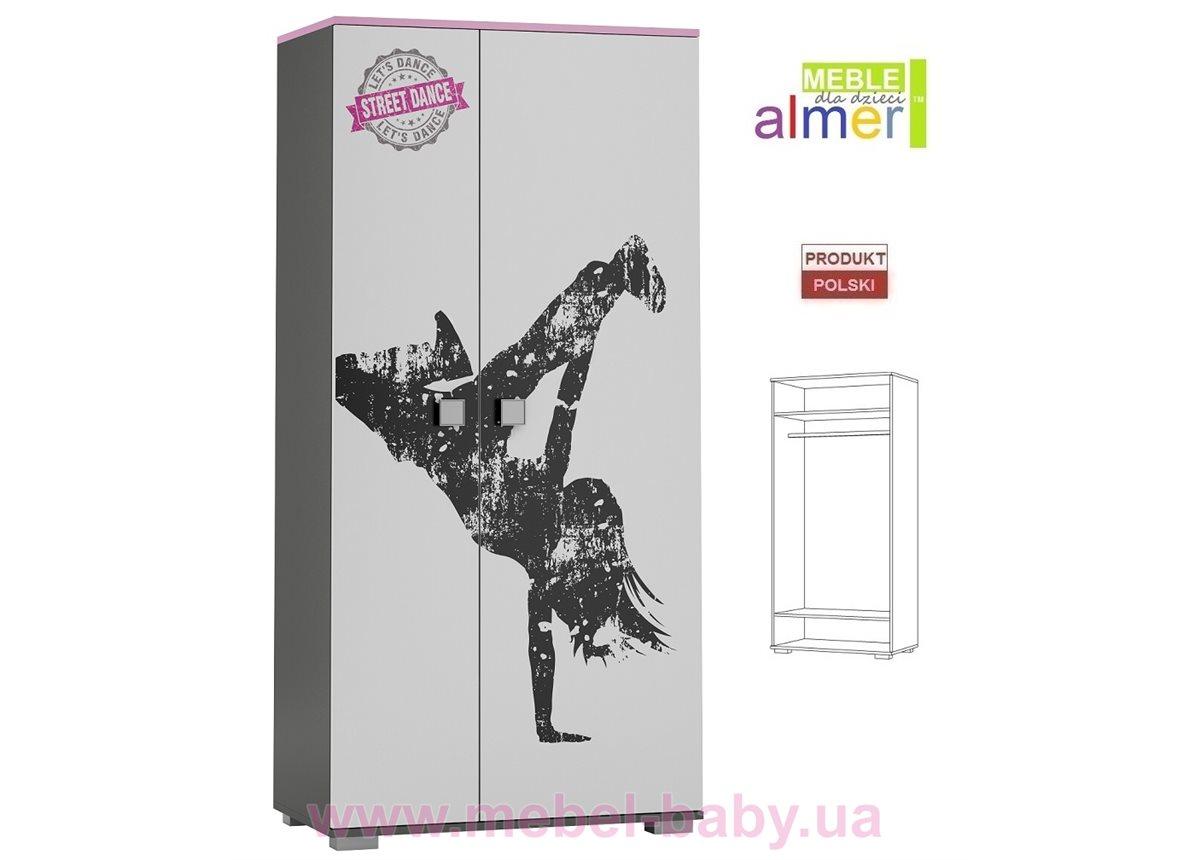 Двухдверный шкаф STREET DANCE Y23 900 Almer Белый