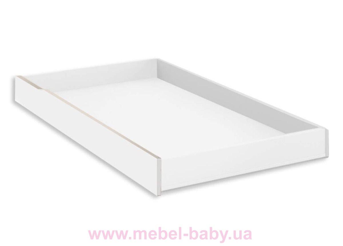 296_Ящик ДУО для кроватки 140 Meblik белый