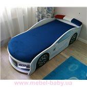 Кровать машина Ауди 80х180 с подъемным механизмом с матрасом и спойлером MebelKon