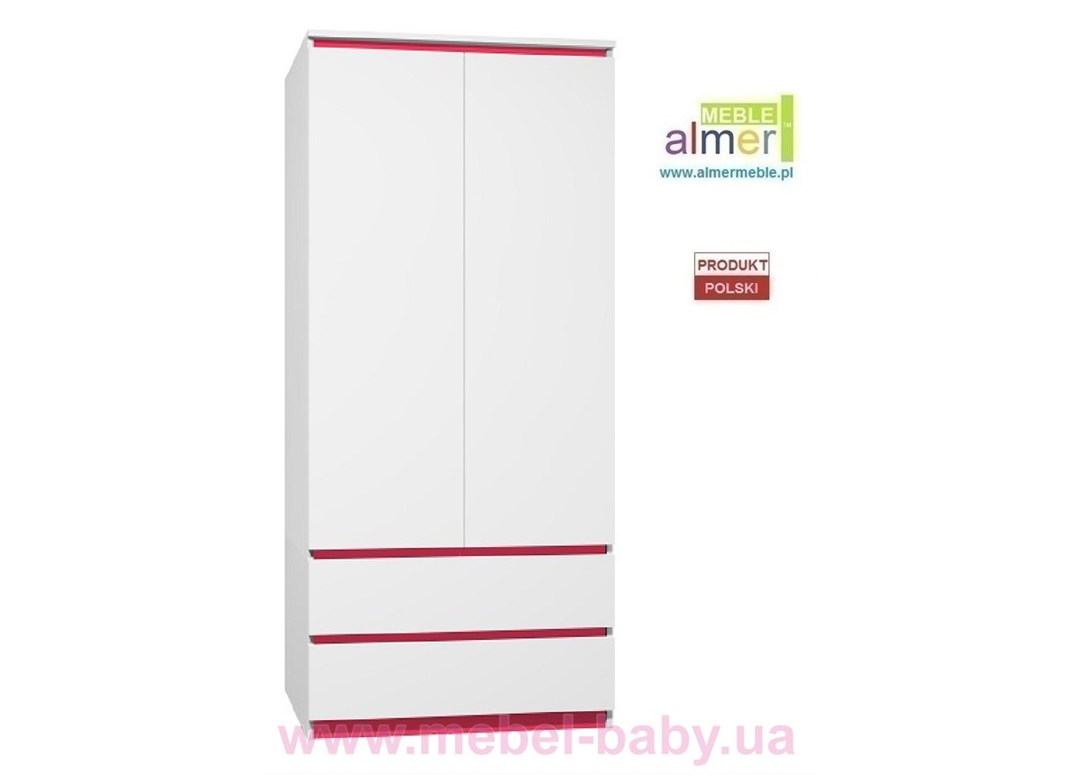 Шкаф CITY C12 900 Белый Almer