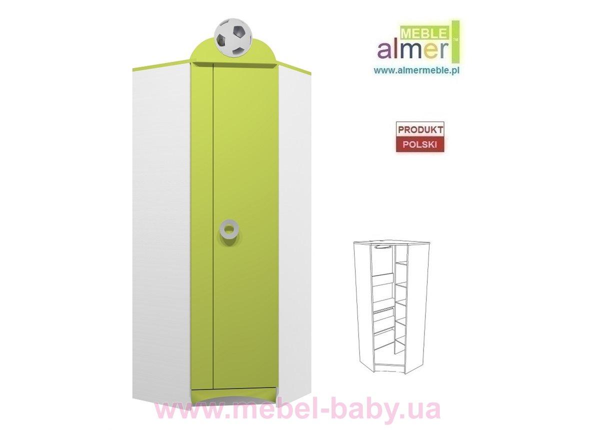 Угловой шкаф FOOTBALL N27 700 Зеленый лайм Almer