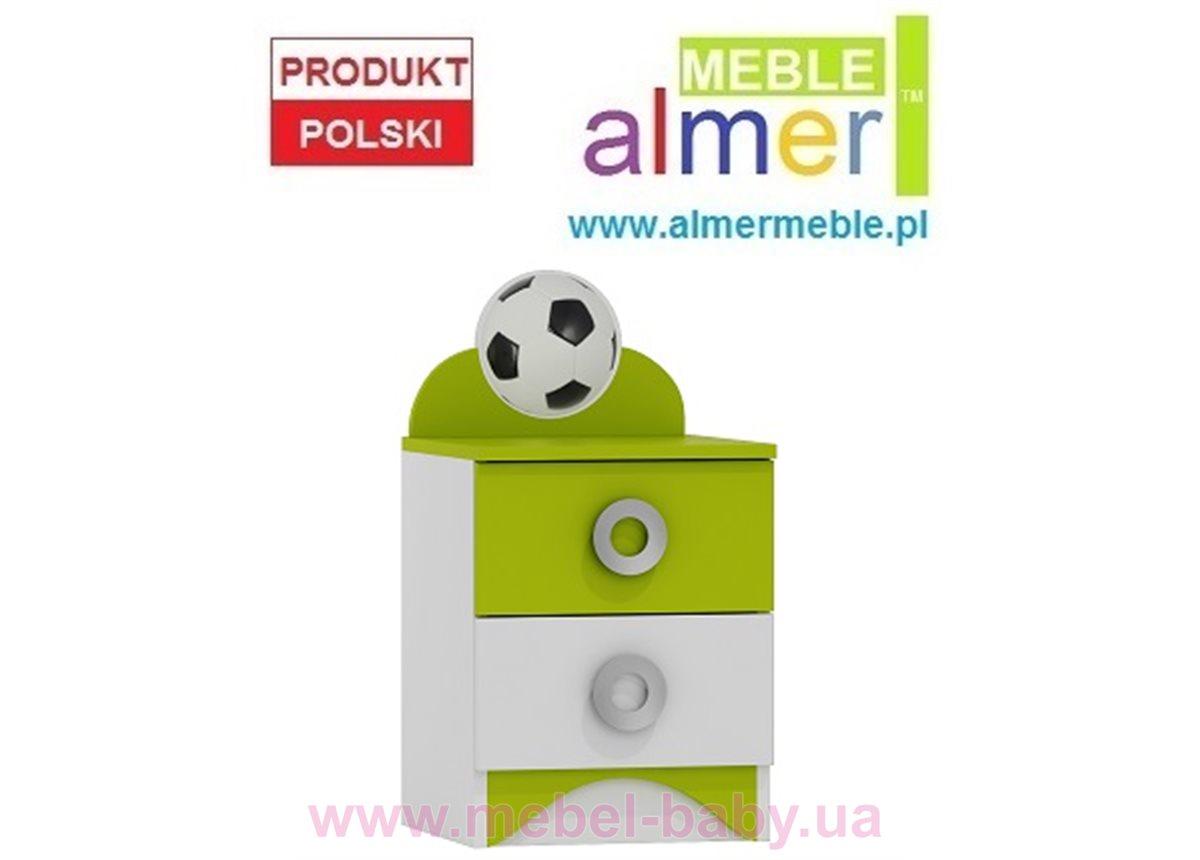 Тумбочка FOOTBALL N18 400 Зеленый лайм Almer