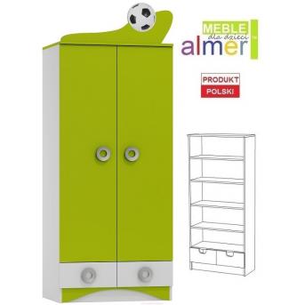 Шкаф FOOTBALL N25 800 Зеленый лайм Almer