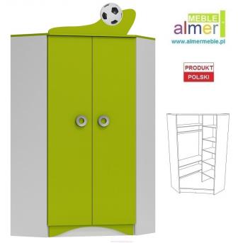 Угловый шкаф FOOTBALL N28 950 Зеленый лайм Almer