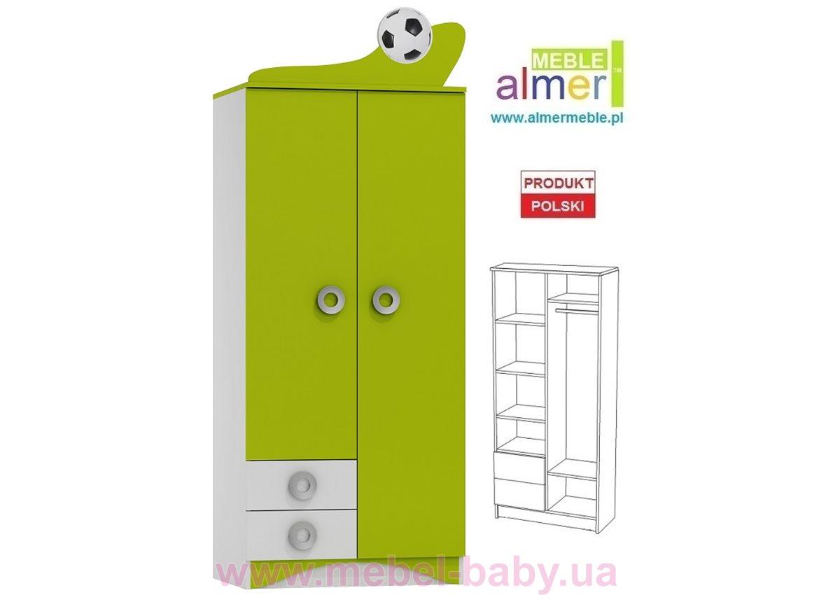 Шкаф FOOTBALL N8 800 Зеленый лайм Almer